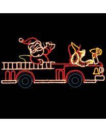 11' x 24' Santa's Firetruck, LED