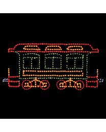 7' Belle of the 80's Passenger Car, LED