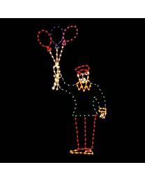 12' Victorian Balloon Vendor, LED