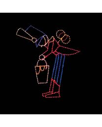 13' Leaning Toy Soldier, LED