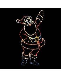 9 1/2' Silhouette Santa, LED