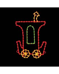 7' Silhouette Caboose Car, LED