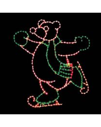 10' Skating Bear, LED
