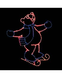 11' Skating Bear, LED