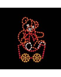 7' Silhouette Teddy Bear Car, LED