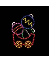 6' Silhouette Ornament Car, LED