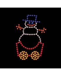 7' Silhouette Snowman Car, LED
