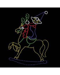 15' Hobby Horse and Elf, LED
