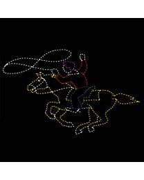 12' Roping Cowboy on Horse, LED