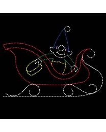 11' Elf Washing Sleigh, LED
