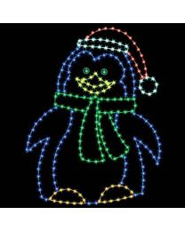 8' Penguin Mom, LED
