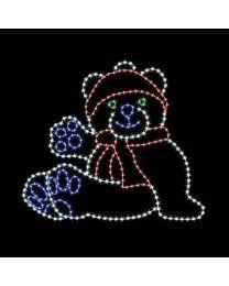 8' Polar Bear Cub, LED