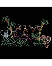 26' x 45' Animated Monkey Jungle, LED