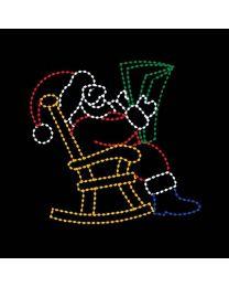 9' x 8' Santa Reading, LED