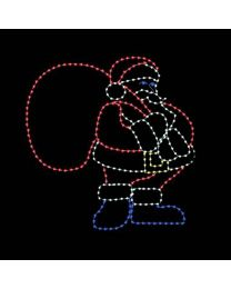 10' Santa with Gift Bag, LED