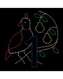 10 1/2' x 10 1/2' Partridge in a Pear Tree, LED