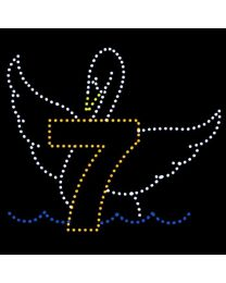 10' x 11 1/2' Seven Swans Swimming, LED