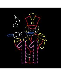 Animated 11' x 10' Eleven Pipers Piping, LED