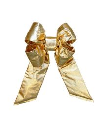 "12"" Gold Mylar Christmas Bow"