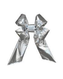 "12"" Silver Mylar Christmas Bow"