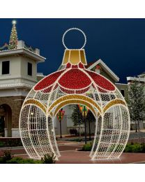 16' 3D LED Round Ornament Icon Walk Through