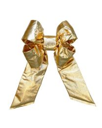 "18"" Gold Mylar Christmas Bow"