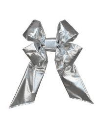 "18"" Silver Mylar Christmas Bow"