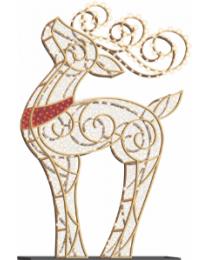 12' LED Reindeer Icon - Warm White