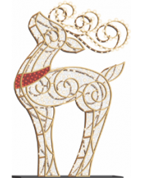 10' LED Reindeer Icon - Warm White