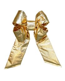 "24"" Gold Mylar Christmas Bow"
