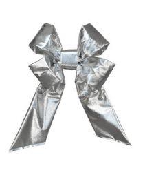 "24"" Silver Mylar Christmas Bow"