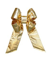 "36"" Gold Mylar Christmas Bow"