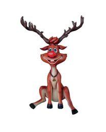 4.5' Sitting Reindeer