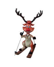 5' Skiing Reindeer