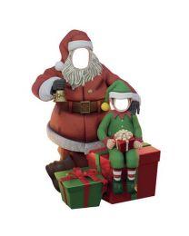 6.5' Santa with Elf