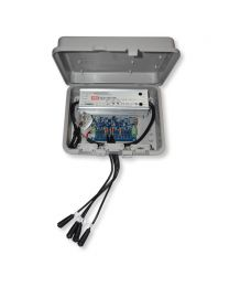 RGB 4-Port Network Data Box with Power 24V, + Line