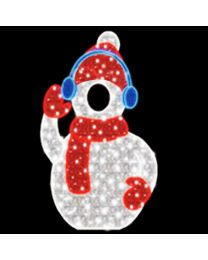 5.25' 2D LED Snowman - Photo Op Display
