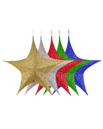 """Foldable 3D Star - 54"""" - Polymesh - 5 Colors Available"""