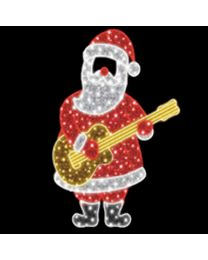 6.5' 2D LED Rockin' Santa - Photo Op Display