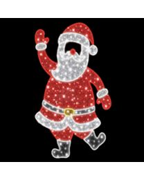 6.5' 2D LED  Santa - Photo Op Display