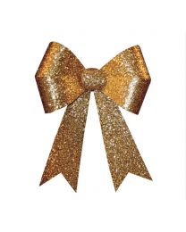"24"" x 28"" Gold 4 Loop Glitter Bow"