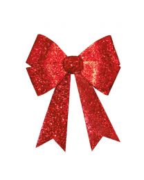 "24"" x 28"" Red 4 Loop Glitter Bow"