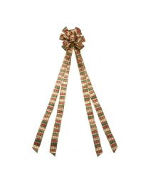 "11"" Plaid Tree Topper Bow"