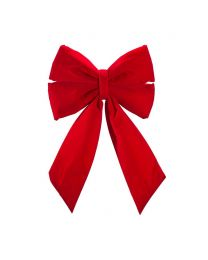 "12"" Red Velvet Christmas Bow"