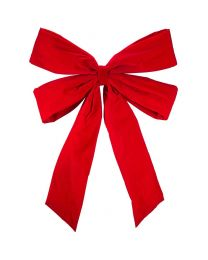 "48"" Red Velvet Christmas Bow"