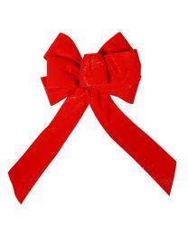 """8"""" Red Velvet Christmas Bow"""