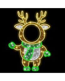 5' 2D LED Baby Deer - Photo Op Display