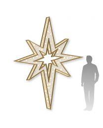 10' 3D LED Bethlehem Star -  Warm White