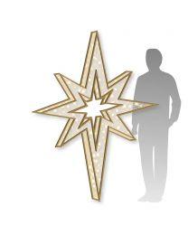 6.5' 3D Bethlehem Star with Warm White LED Lights