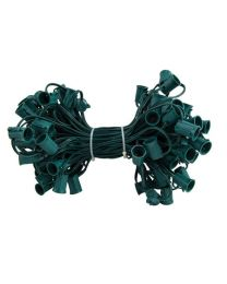 """C9 Cord, 12"""" Spacing, Green Wire, SPT-1, 100'"""